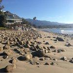 Beach walking south