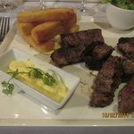 grilled beef with potatoes
