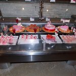 Toetjesbar met Valentijnsdag