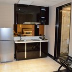 Kitchen area & large refrigerator
