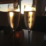 Champagne at Hot Tin Roof
