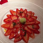 Strawberry carpaccio...amazing!