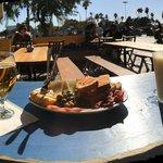Beer, tapas assortement, pineapple juice