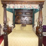 Comfy four poster bed in room 140