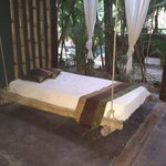 Our outdoor chill bed on our private terrace