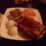 Mois de février-Russie Mon choix de plat principal: tourte au poisson, accompagné de carottes g