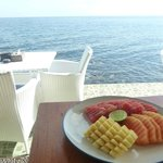 Breakfast with ocean view