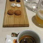Simple and nice sweets for the espresso.