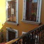 Zaachila Suite windows overlooking courtyard