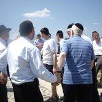part of the tour group dancing with Rabbi P. Krohn