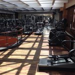 Gym at the hotel.