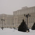 Palace of Parliament - snowing
