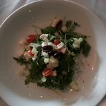 Arugula salad with mozzarella