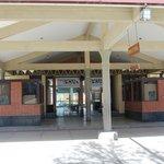 Estação de trem em Uyuni em greve