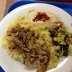anothet chicken dish with side of whole grain pita bread