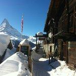Entrance to rest. Enzian in Findeln / Zermatt