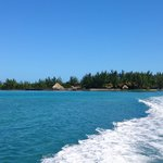 Thatch Caye from offshore