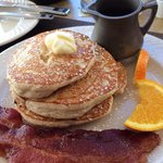 Gluten free chocolate chip pancakes. They are not on the menu, ask the wait staff.