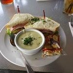 sandwhich with a bowl of soup