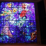 Stained glass window designed by Chagall