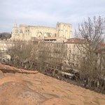 vue de la chambre, le palais des papes