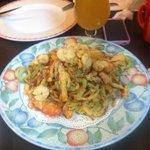 Gamba en tempura