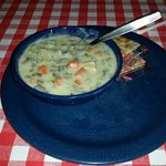 Delicious Chicken and wild rice soup