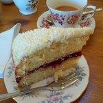 Yummy Bakewell Victoria sponge cake