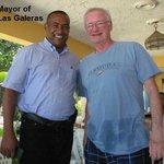 With the Mayor of Las Galeras