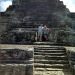 Mayan temple. Mayans added on to them every 52 years, per their calendar
