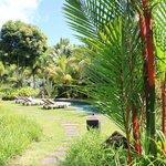 Vue piscine devant Kaz Sup