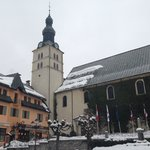Megeve Church square