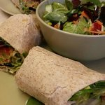 classic toasted wrap and salad