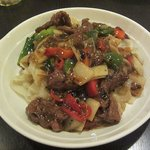 Ho Fun Noodles with Beef in Black Bean Sauce