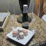 Valenine package of champagne & chocolates