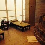 the hot tub area