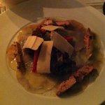 carpaccio d'artichaud , foie gras