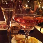 Wine & prawns