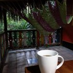 Coffee on the porch was nice