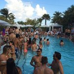 SLS Pool Party that they host on the weekends!
