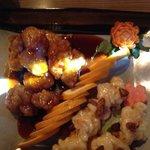 Hot Crunchy Chicken with Honey Walnut Shrimp.