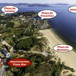 Imagen aérea de referecia de otras playas de la zona.