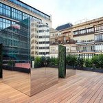 Terrace. Cristina Iglesias sculpture.