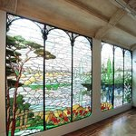 Modernist stained glass room