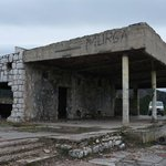 Ruins of restaurant,and Serbs base