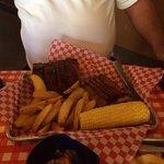 Ribs, briskest, & corn yummy