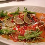 Steamed Sea bass with Chilli and Lime juice.