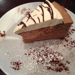 Mocha chocolate mouse cheesecake