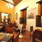Interior view of Ganesha Restaurant, Cartagena