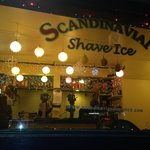 Bright lights, shave ice